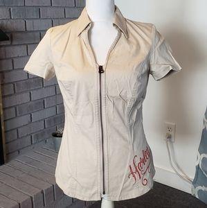 Harley-Davidson zip up shirt